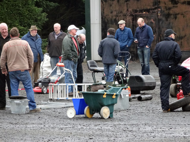 A picture of the crowd beginning to gather at the Kelso racecourse for the auction sale today. We visited briefly, but seeing nothing which took our fancy, ...