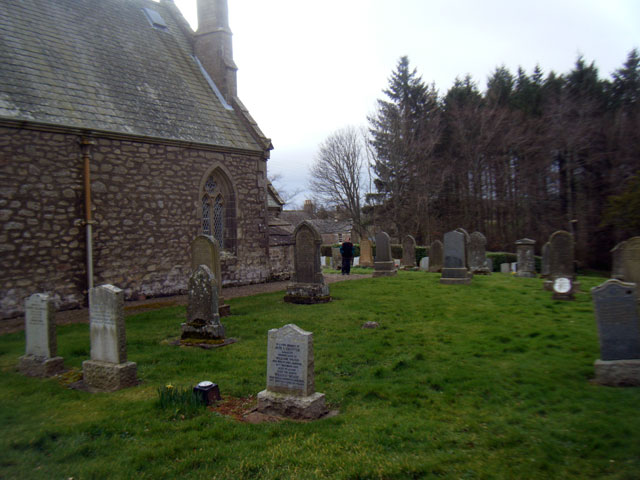 This morning we were at Gavinton Church and Rachel u2013 the figure in the distance u2013 had a good look at the Church from a different angle